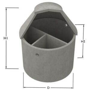 Slamavskiljare i betong